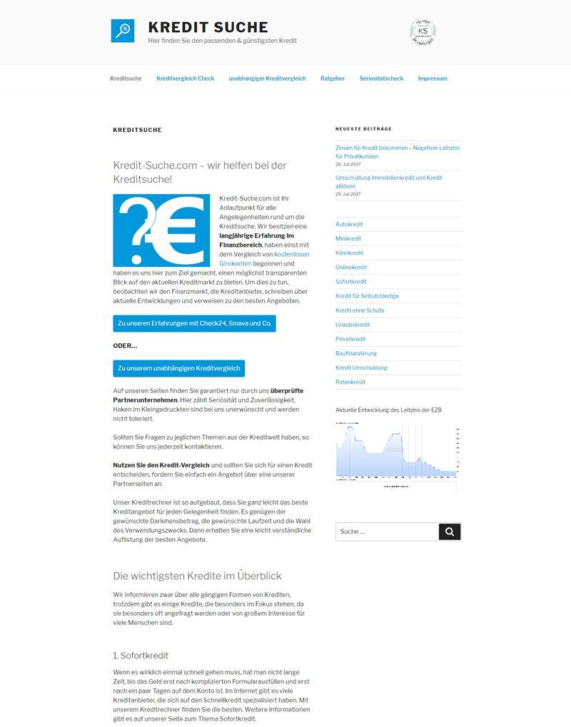 Referenz Kredit-Suche